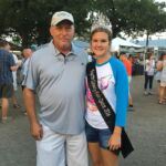 Randy Proske with the 2016 Fair Queen