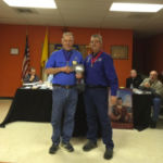 Grand Knight receive quick start award presented by the District Deputy Grand Knight
