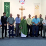 La Grange Knights of Columbus 2754 presented a $1000 donation to The Texas Ramp Project at St. Peter & Paul Catholic Church in Plum